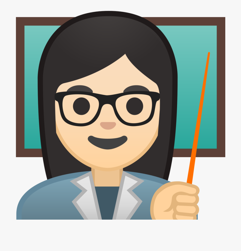 Woman Teacher Light Skin Tone Icon.