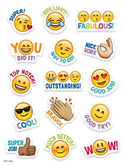 Creative Teaching Press Emoji Rewards Stickers (4143).
