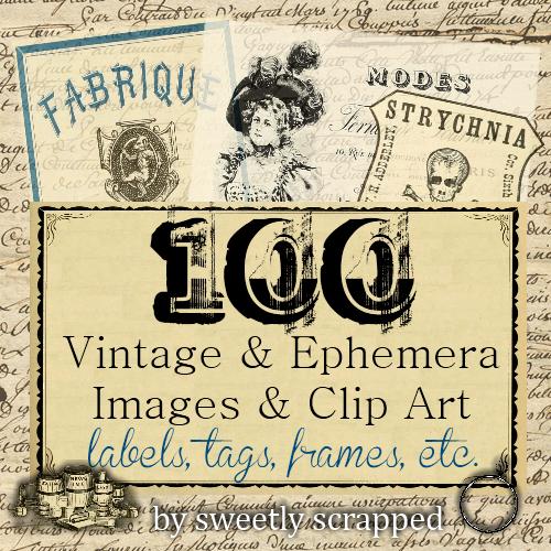 100 Free Beautiful Free Printable Frames, Ephemera, Images, Prints.