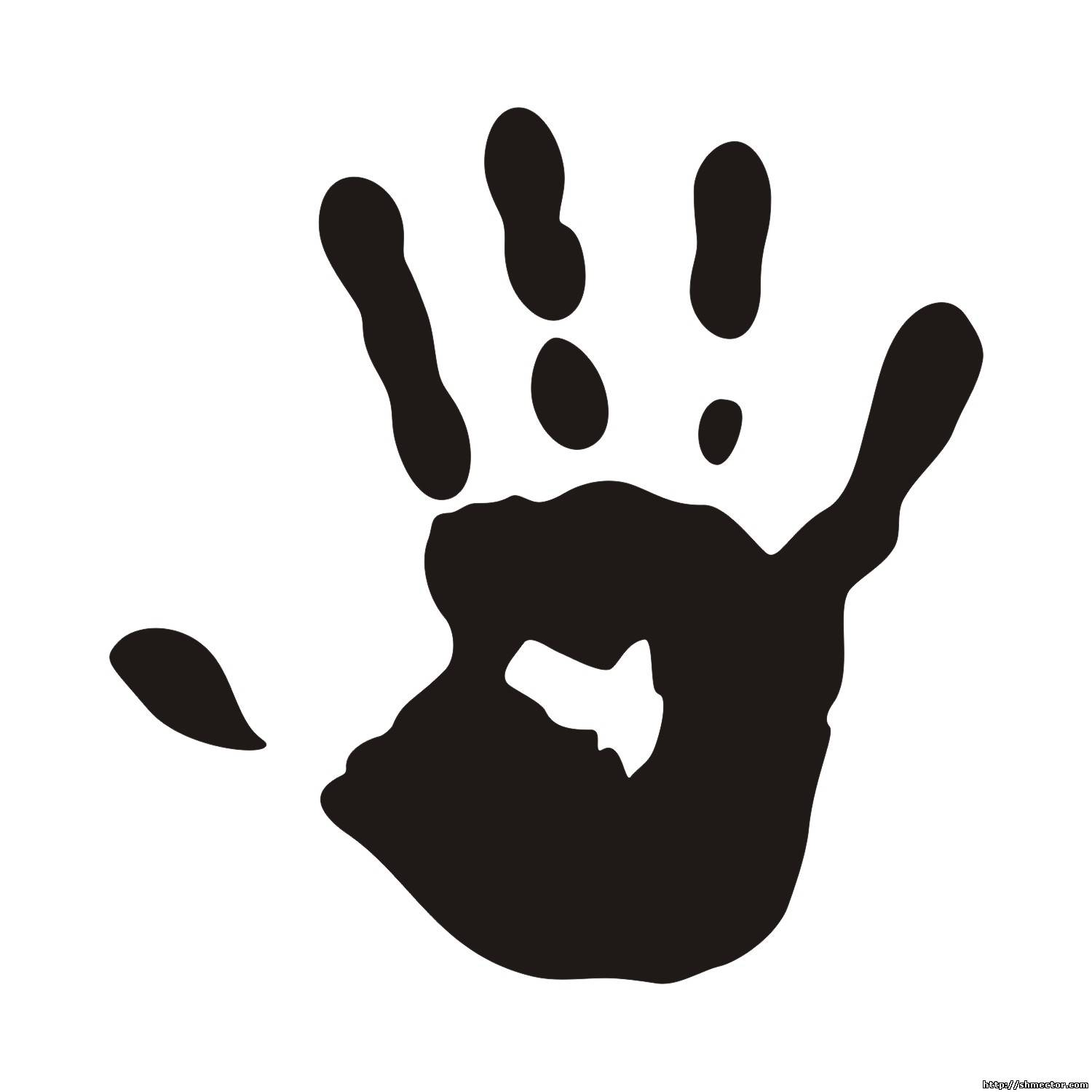Handprint And Illustration Vector Eps Pictures Clipart.