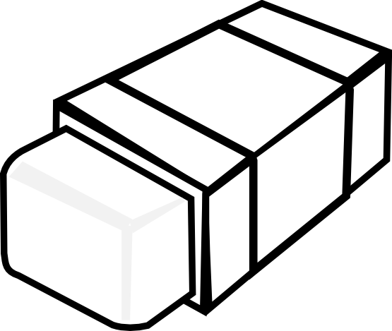 Eraser Clipart Black And White.