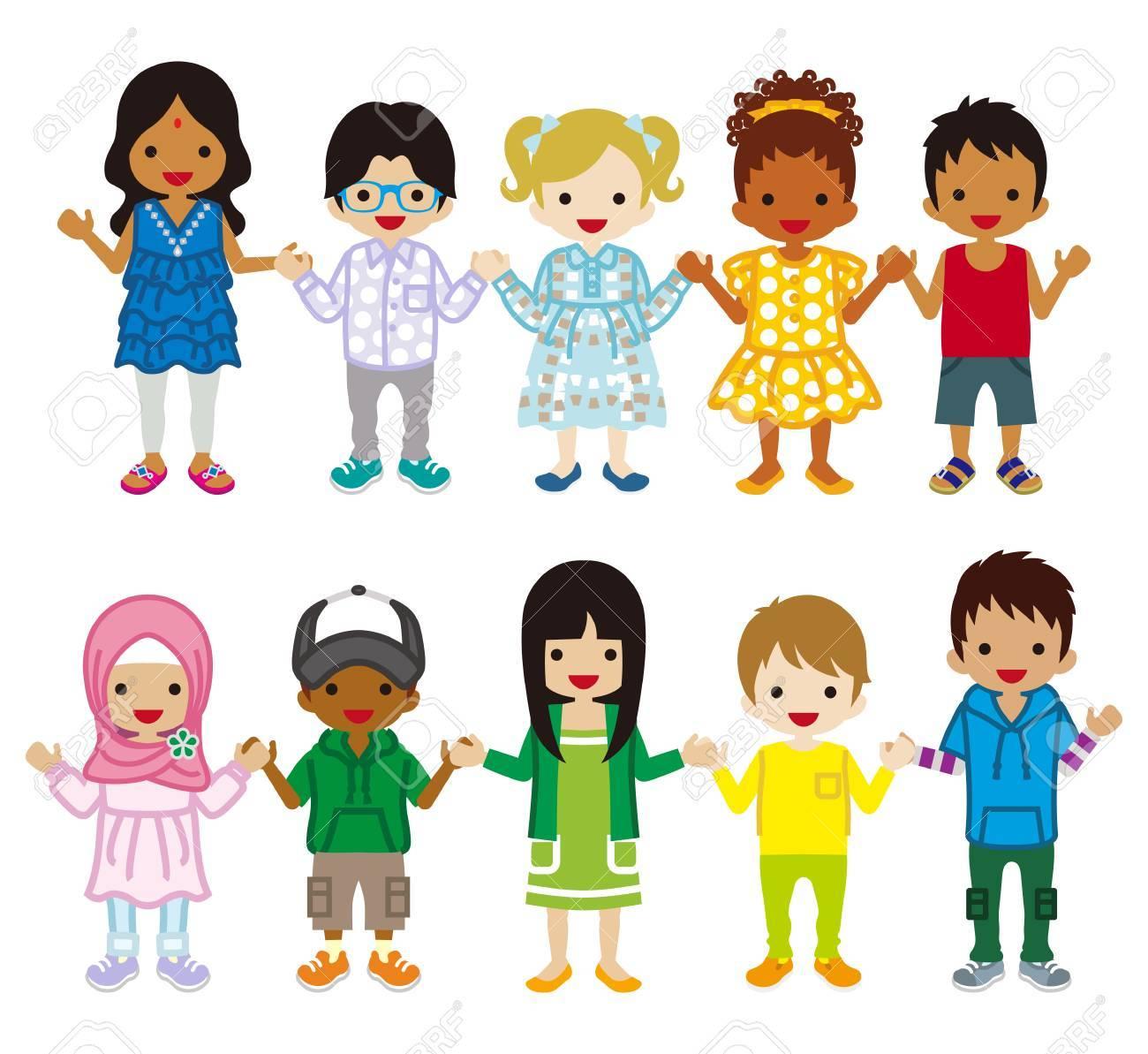 Multi Ethnic Children set.