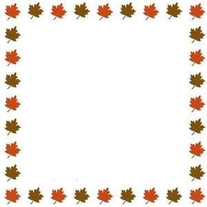 Fall Leaves Border Clipart.