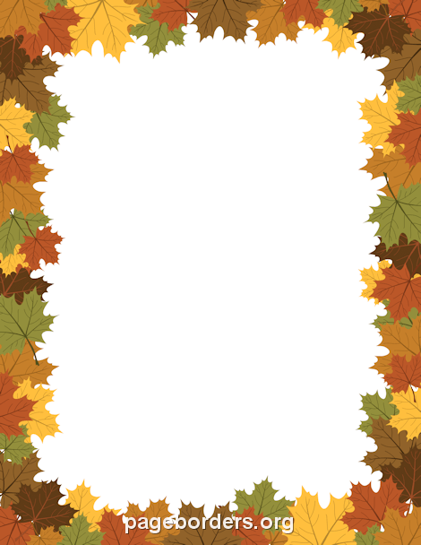 Free fall borders clip art page and vector graphics png.