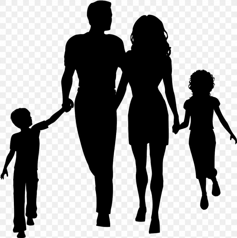 Family Silhouette Clip Art, PNG, 1024x1031px, Family, Black.