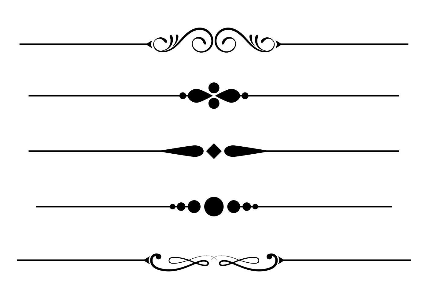 Free Fancy Lines Vector.