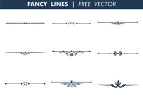 Fancy Lines Free Vector Art.
