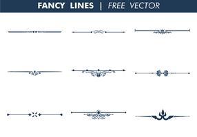 Fancy Lines Free Vector Art.
