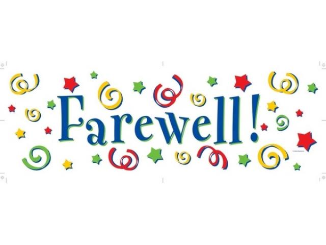 Goodbye clipart farewell luncheon, Goodbye farewell luncheon.