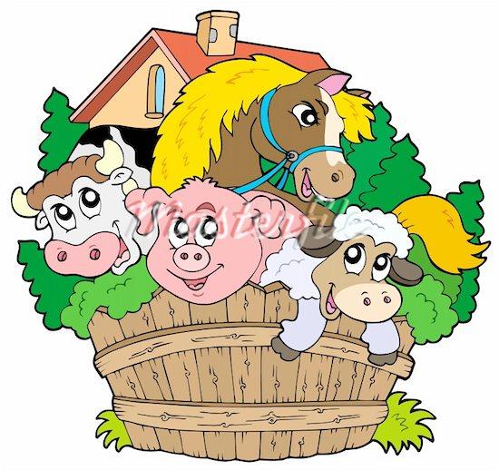 Free Clip Art Farm Animals.