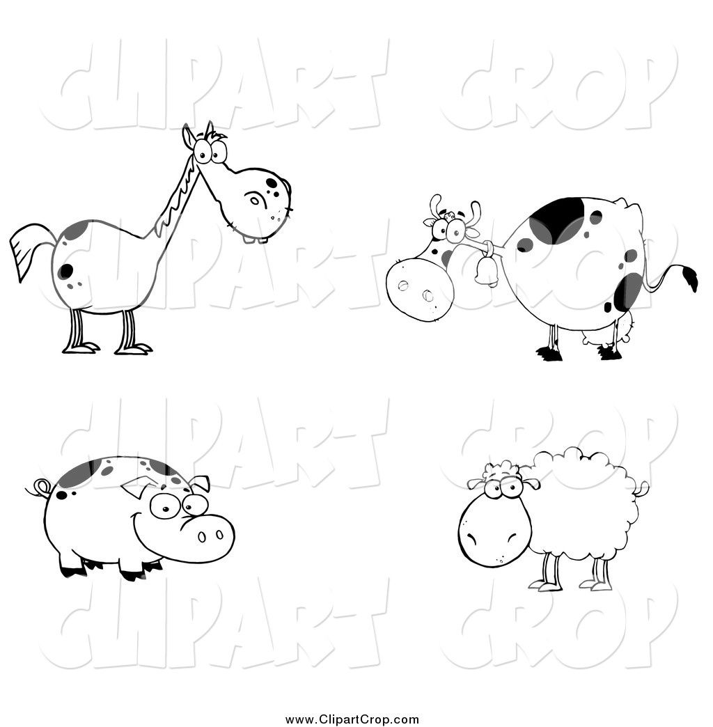Royalty Free Farm Animal Stock Agriculture Designs.