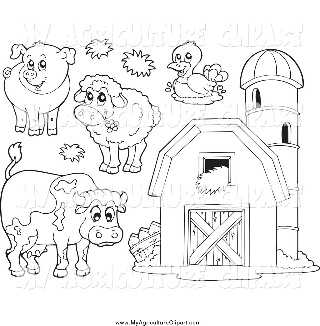 Royalty Free Stock Agriculture Designs of Printable Coloring Pages.