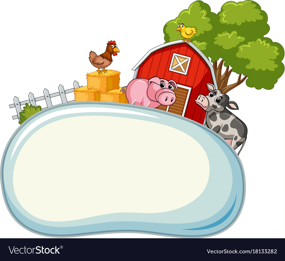 Border template with farm animals in background.