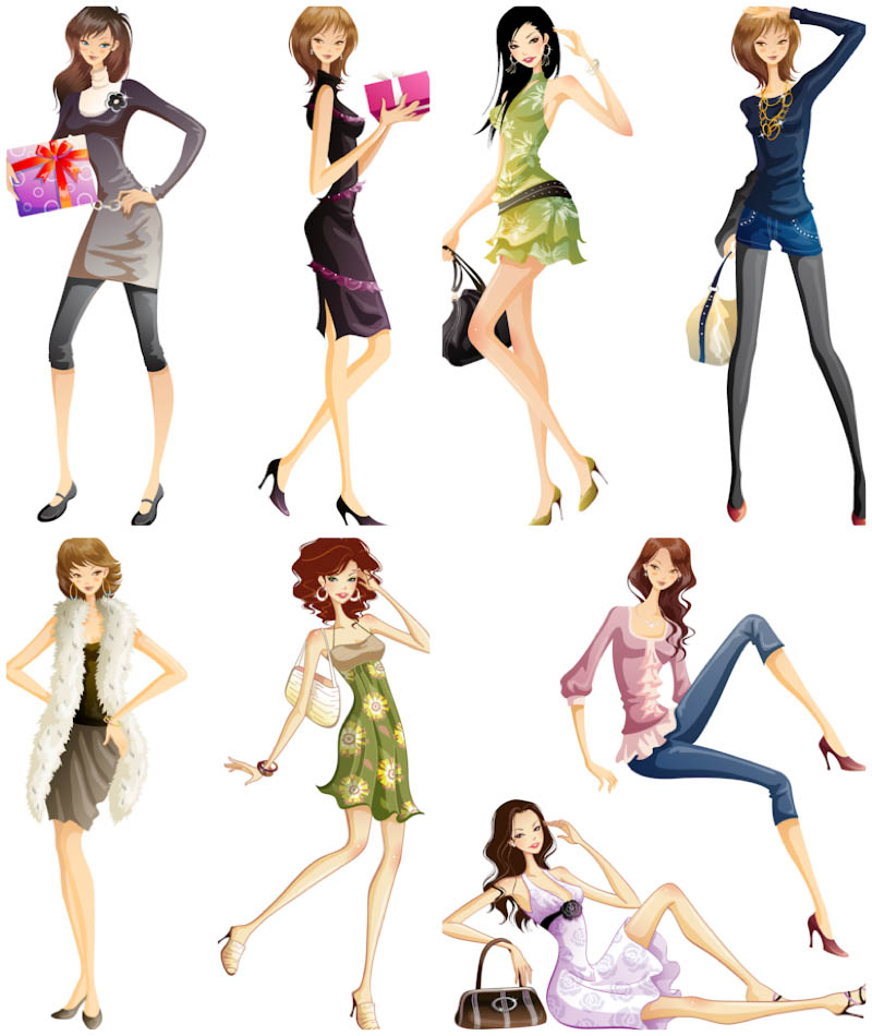 Free Fashion Clipart Woman.