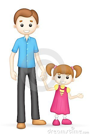 Father With Daughter Clipart.