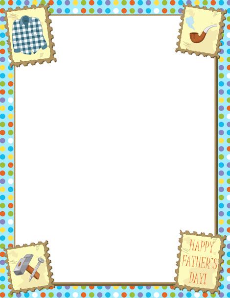 Printable Father's Day border. Free GIF, JPG, PDF, and PNG.