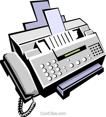 fax machine Royalty Free Vector Clip Art illustration.