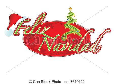 Vector Illustration of Spanish Christmas sign illustration design.