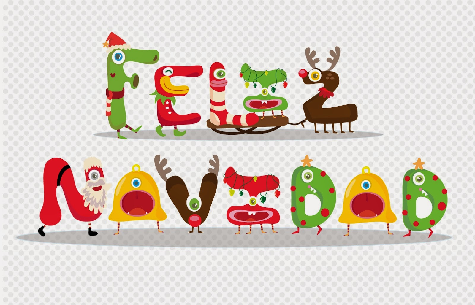 Merry Christmas and Happy New Year in Spanish.