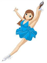 Free Ice Skaters Clipart.