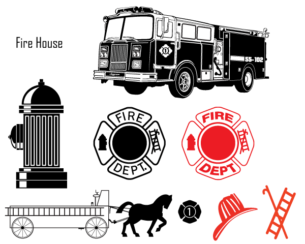 Fire Department Vector Images.