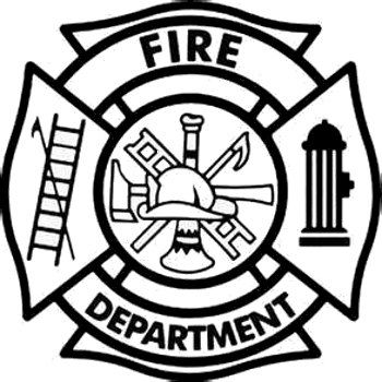 Fire Fighter Badge Decal.