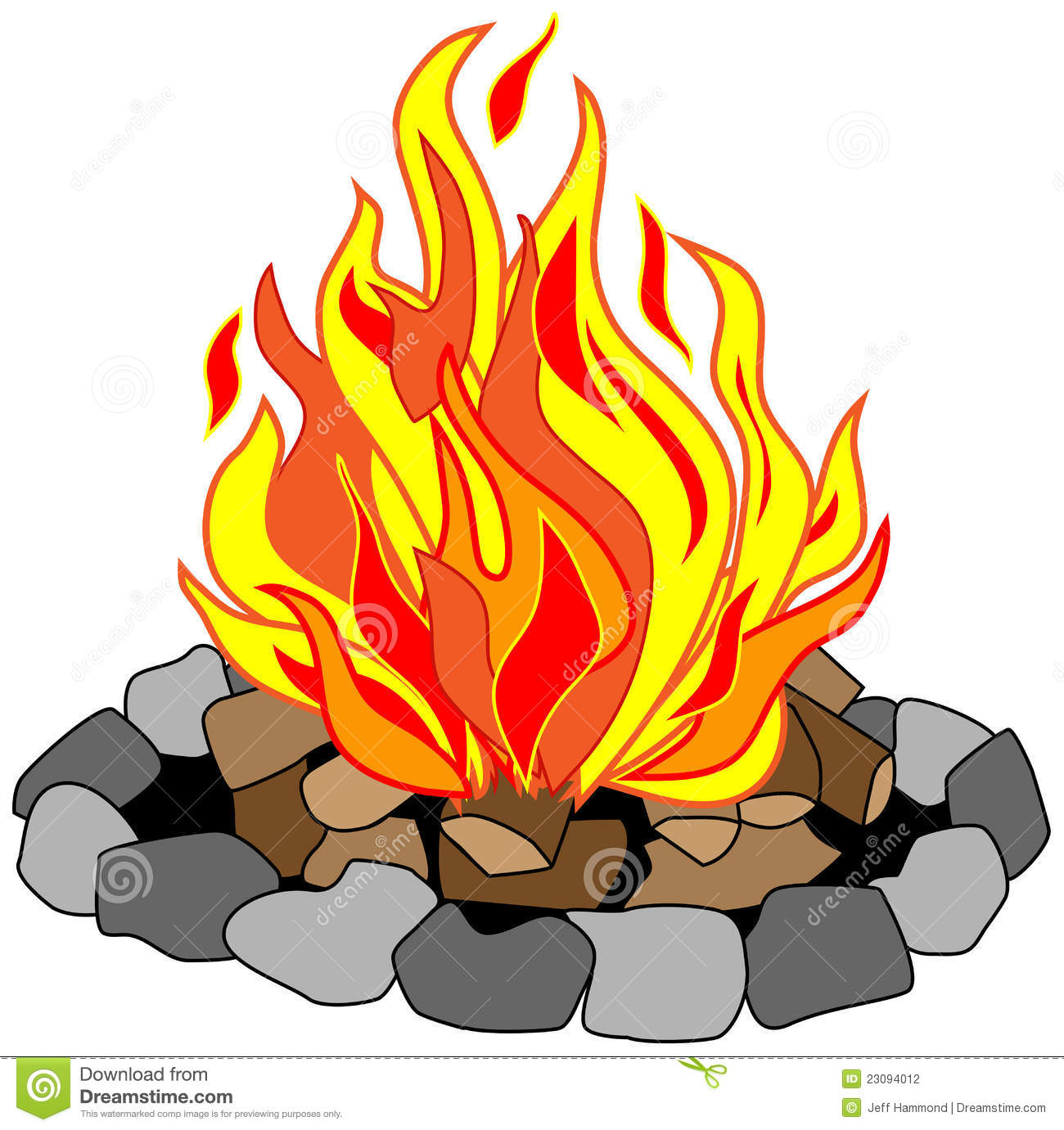 16351 Fire free clipart.
