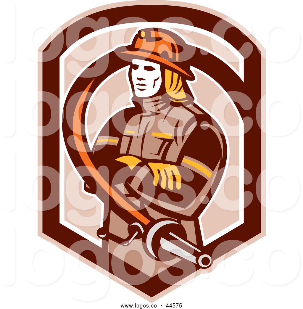 Royalty Free Firefighter Stock Logo Designs.