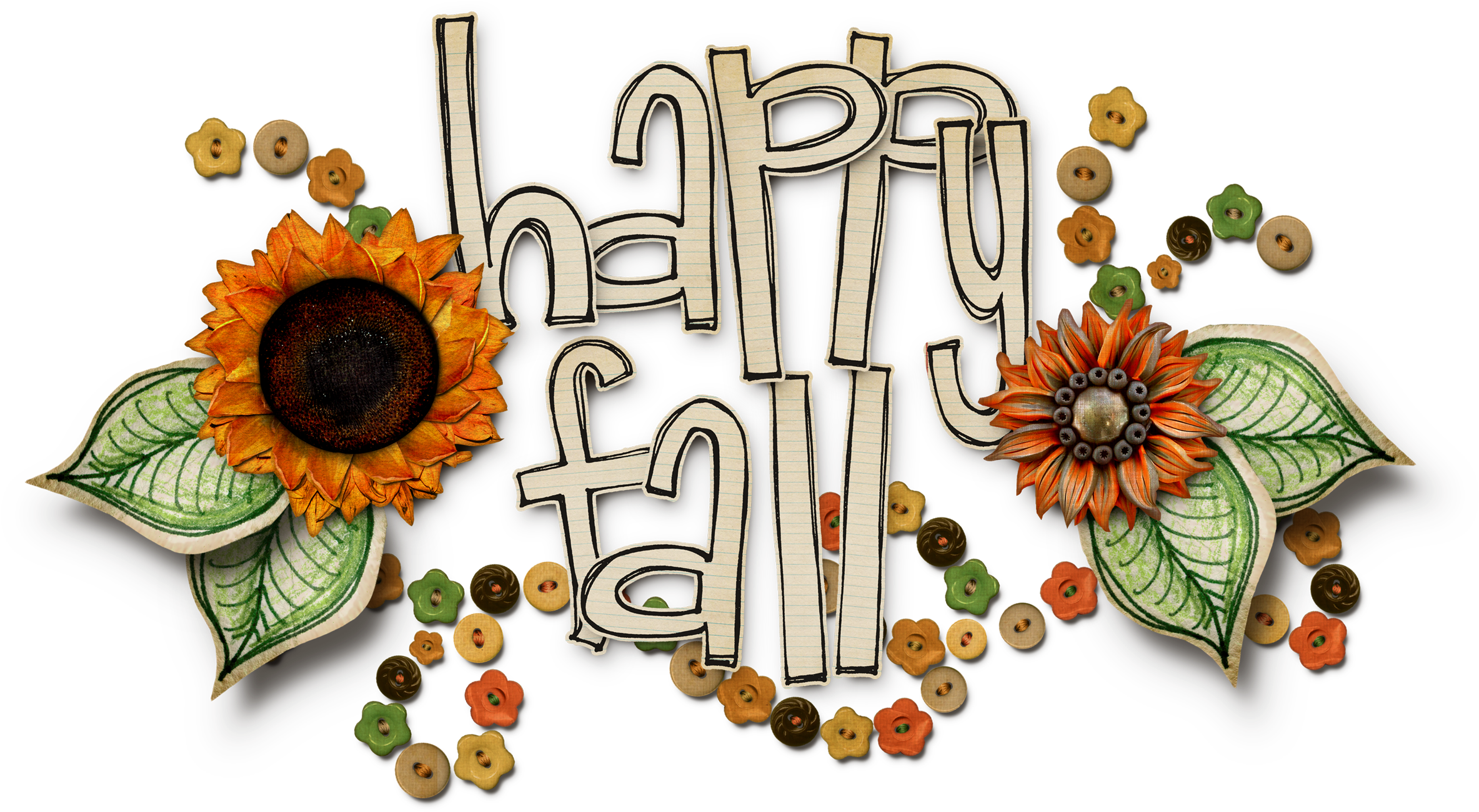 Happy Fall Png.