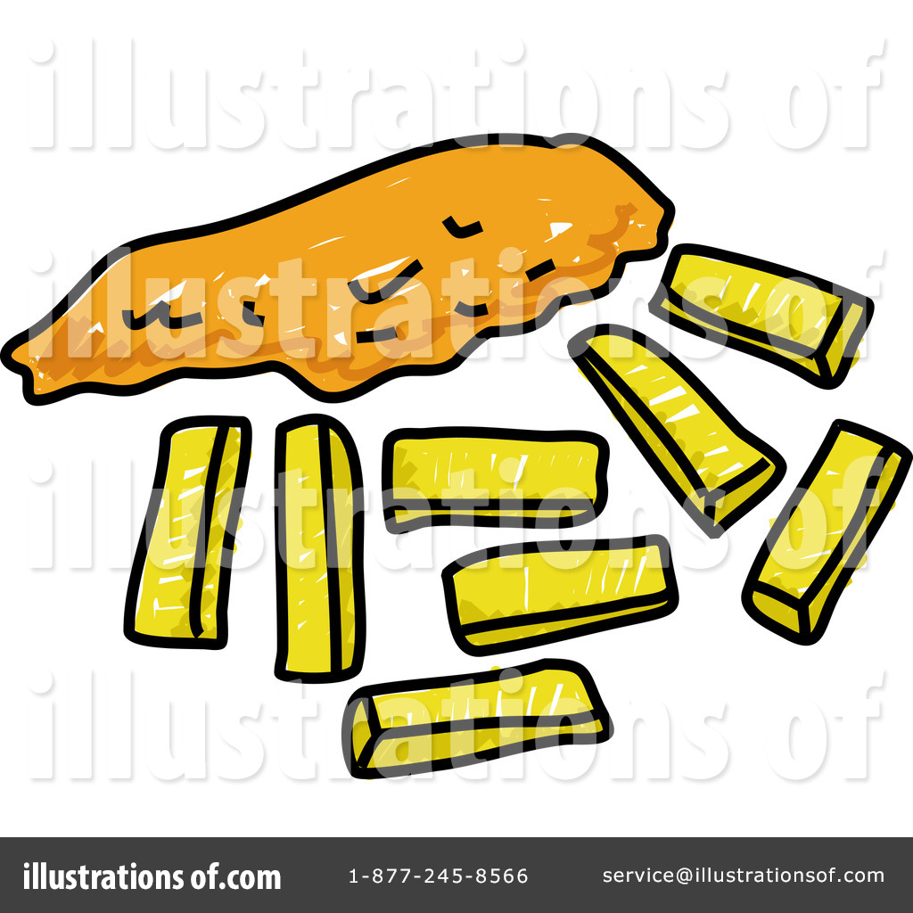 Fish And Chips Clipart #66092.