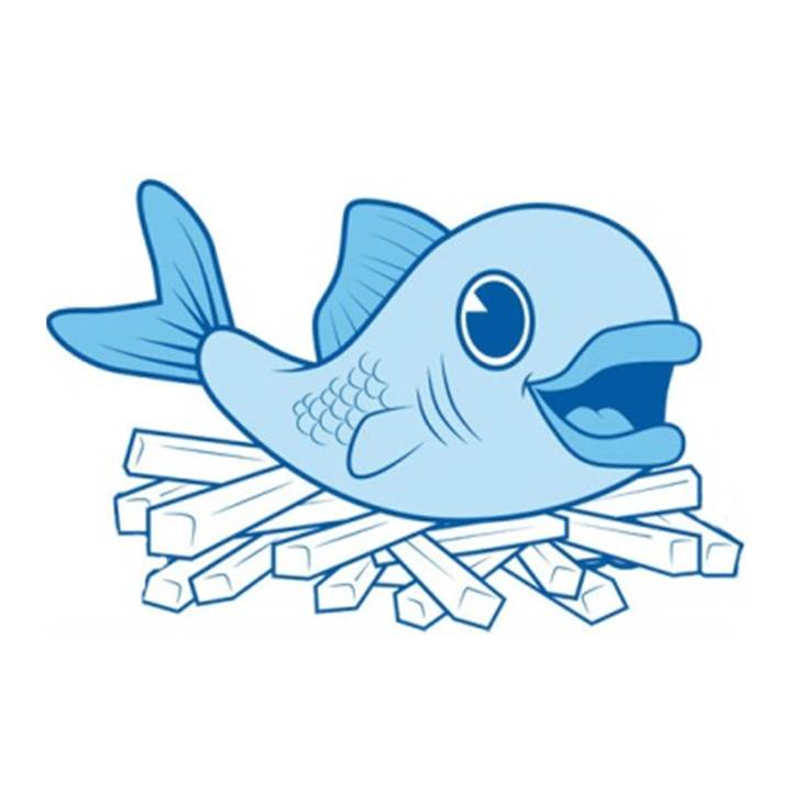 Fish N Chips Clipart.