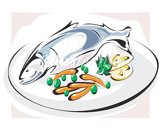Download High Quality dinner clipart fish Transparent PNG.