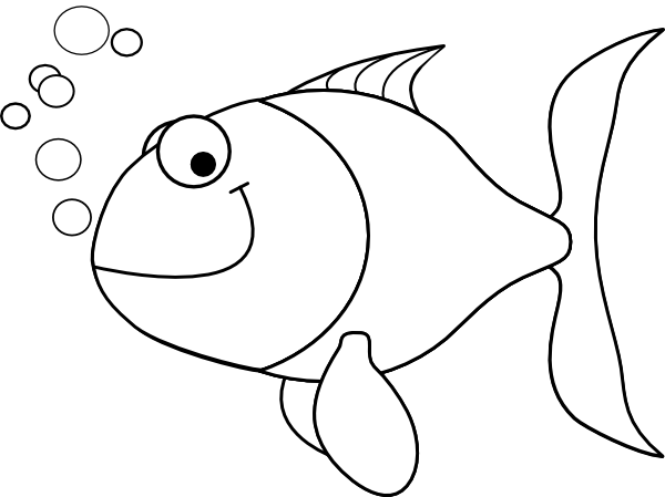 outline of fish.