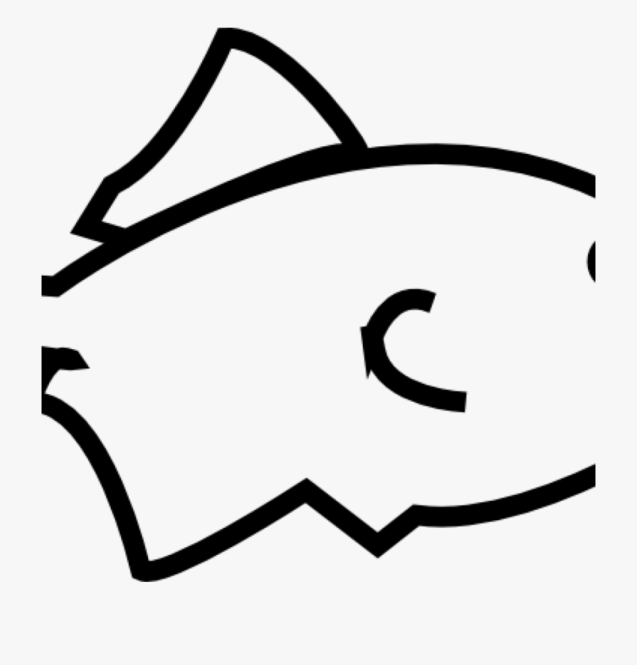Outline Vector Fish.