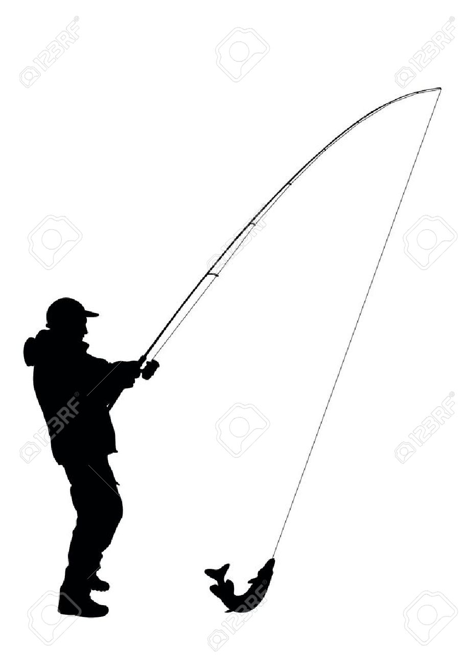 696 Fisherman free clipart.
