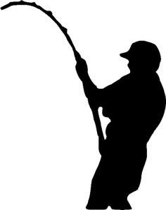 Fishing Silhouette Clipart.
