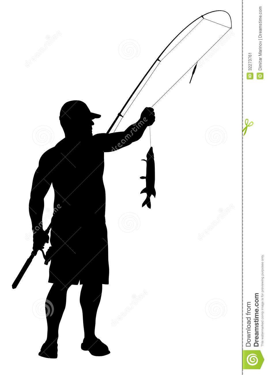 Man Fishing Silhouette.