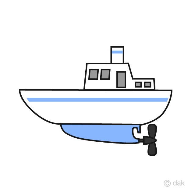 Free Simple Fishing Boat Clipart Image|Illustoon.