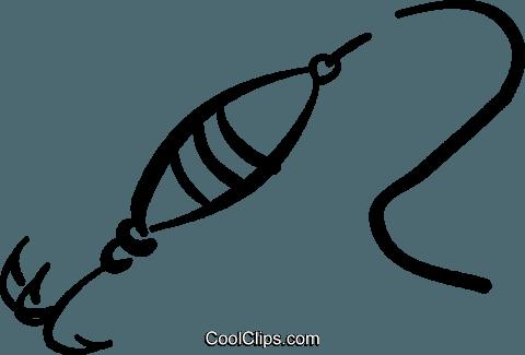 fishing lure Royalty Free Vector Clip Art illustration.