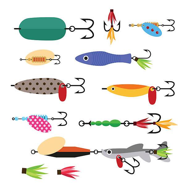 Best Fishing Bait Illustrations, Royalty.