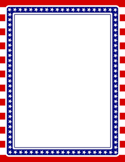 Printable American flag border. Free GIF, JPG, PDF, and PNG.