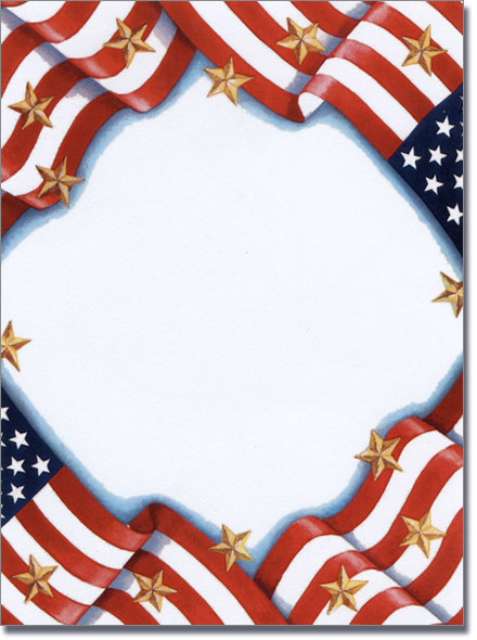 4th of July Printable Stationery.