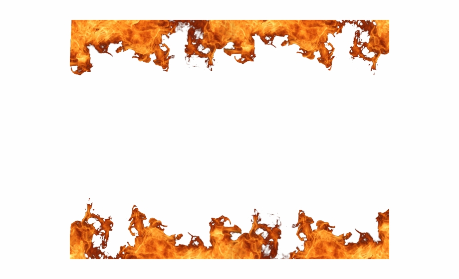 Fire Flames Clipart Border Clip Art, Transparent Png Download For.