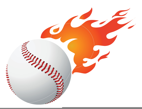 Flaming Softball Clipart Free.