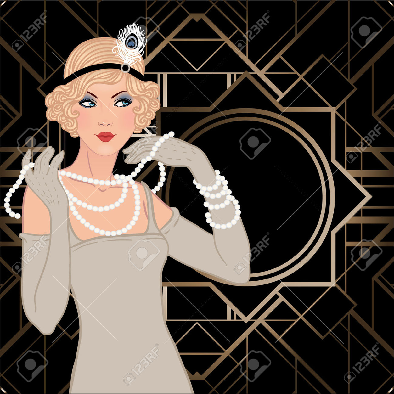 Free Vintage Flapper Cliparts, Download Free Clip Art, Free Clip Art.