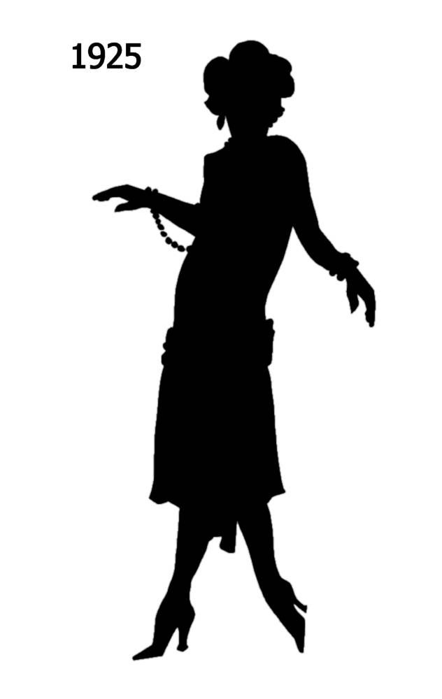 Free 1920S Flapper Silhouette, Download Free Clip Art, Free Clip Art.