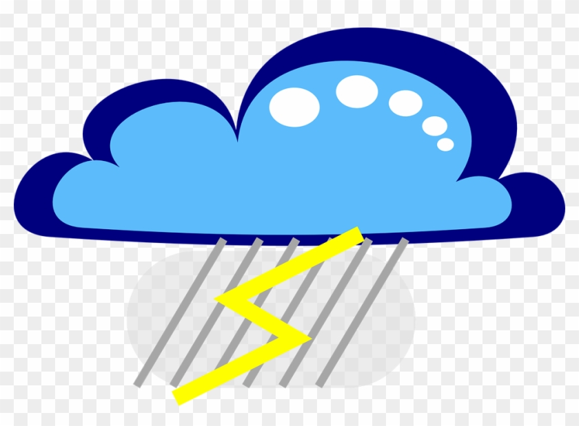 Cloud Flash Rain Free Vector Graphic On.