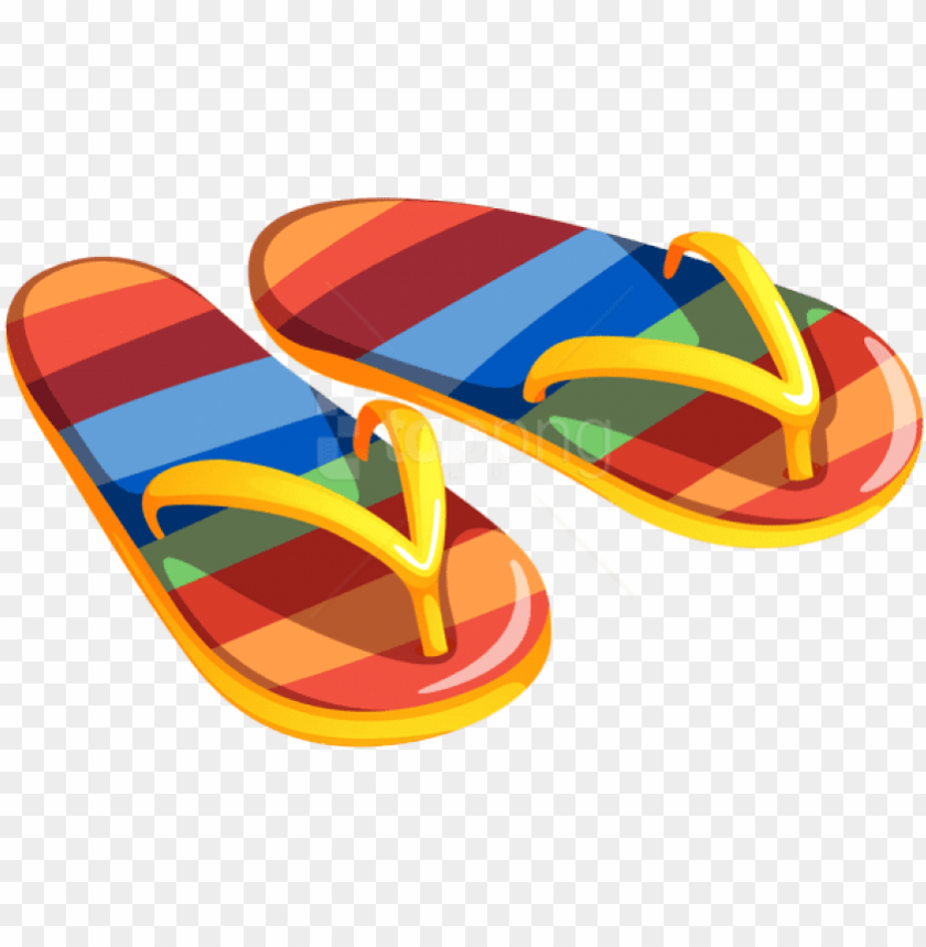 free png download transparent beach flip flops clipart.