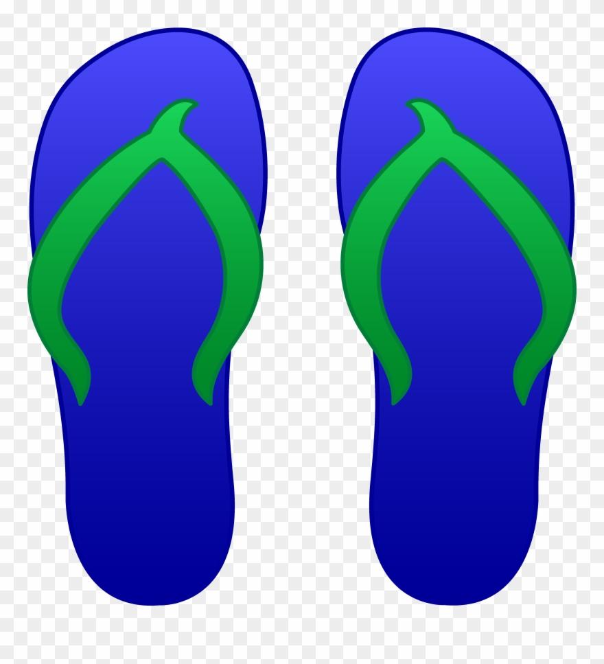 Blue Flip Flops Free Clip Art.