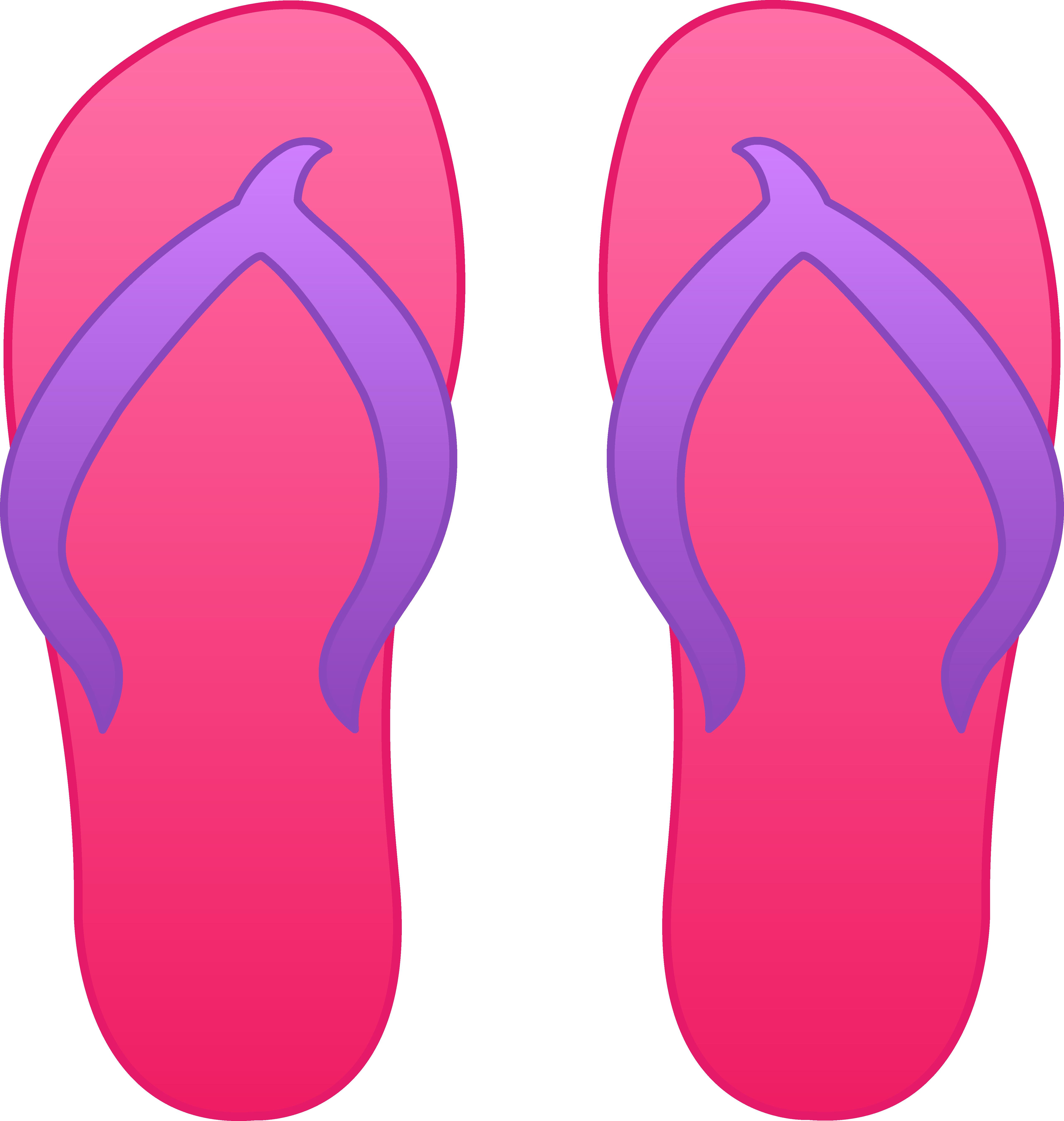 Flip Flop Pink Sandals clipart free image.